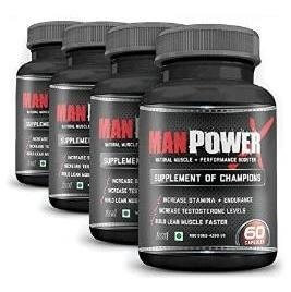 Man Power X Pack of 4,  240 capsules  Unflavoured