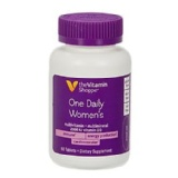 Vitamin Shoppe One Daily Women's Multivitamin,  Unflavoured  60 Tablet(s)