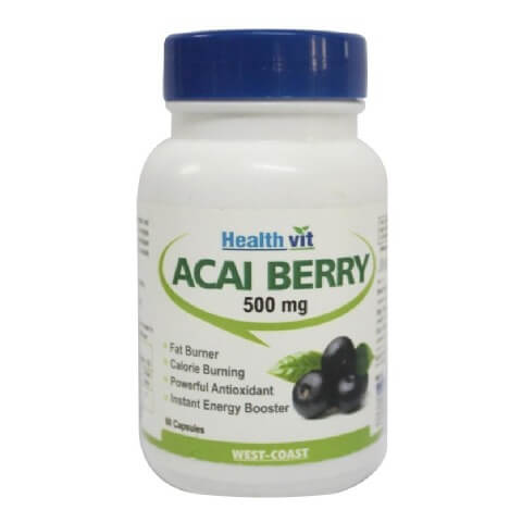 Healthvit Pure Acai Berry (500mg),  60 capsules  Unflavoured