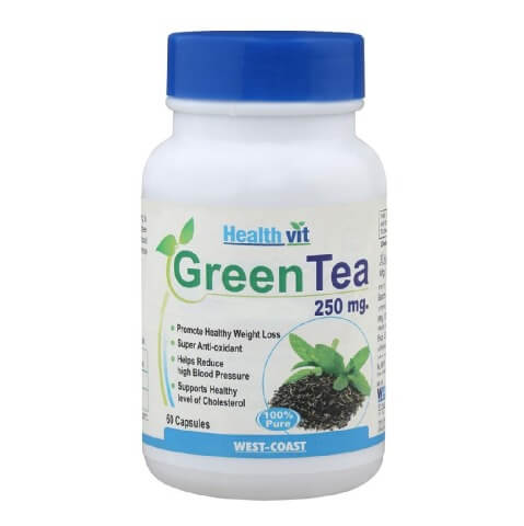 Healthvit Green Tea 250 mg,  60 capsules  Unflavoured