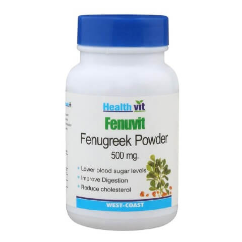 Healthvit Fenuvit Fenugreek Powder (500mg),  60 capsules