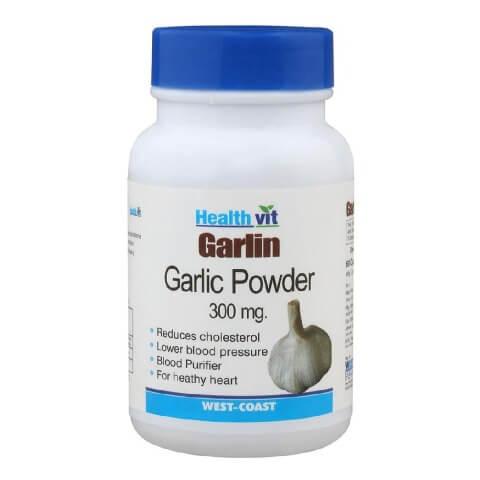 Healthvit Garlin Garlic Powder (300 mg),  60 capsules