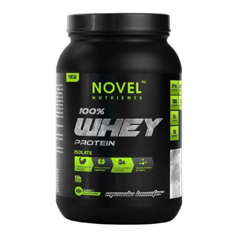 Novel Nutrients 100% Whey Protein Isolate,  1 lb  Chocolate