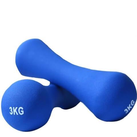 B Fit USA Neoprene Dumbbell (AB6032),  Blue  3 kg