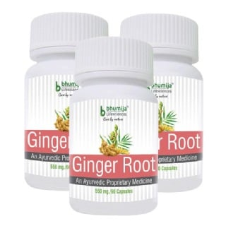 Bhumija Ginger Root (Pack of 3),  60 capsules