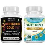 Morpheme Remedies Kohinoor Gold Plus + Safed Musli (Pack Of 2),  150 Capsules