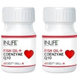 INLIFE Fish Oil + CoQ10 (Pack Of 2),  60 Capsules