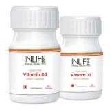 INLIFE Vitamin D3 (2000 IU) Pack Of 2,  60 Capsules
