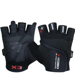 KOBO Gym Gloves (WTG-06),  Black  XL