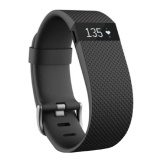 Fitbit Charge HR,  Power Black (Large)