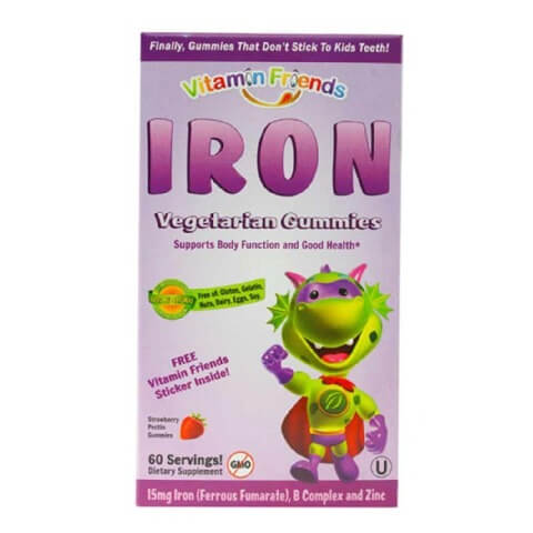 Vitamin Friends Iron Vegetarian Gummies,  60 gummies