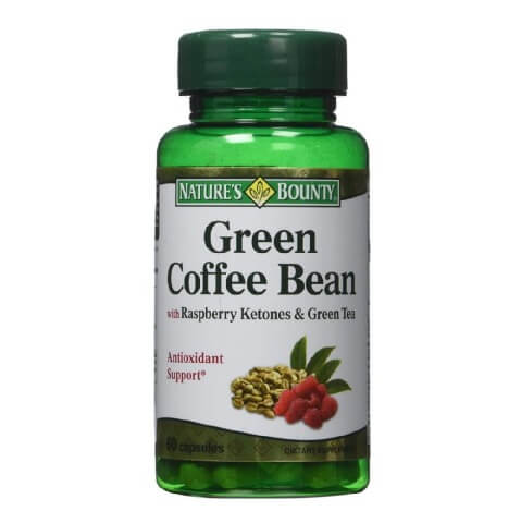 Nature's Bounty Green Coffee Bean,  60 capsules  Raspberry Ketones & Green Tea
