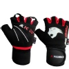 KOBO Gym Gloves (WTG-08),  Black & Red  Small