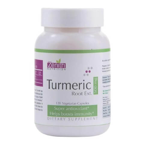 Zenith Nutrition Turmeric Root Ext,  120 capsules
