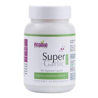 Zenith Nutrition Super Garlic (1000mg),  180 veggie capsule(s)