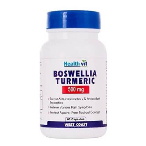 Healthvit Boswellia Turmeric Extract (500 mg),  60 capsules