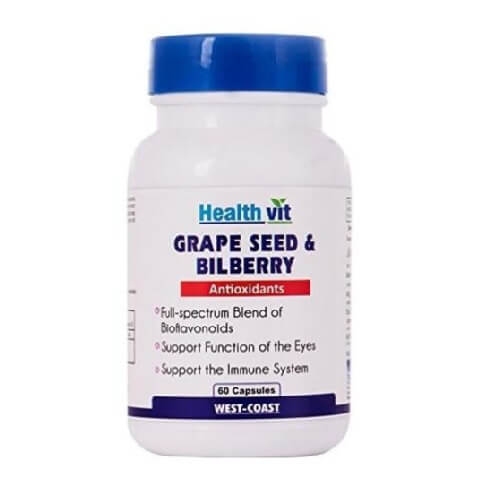 Healthvit Grape Seed & Bilberry,  60 capsules