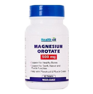Healthvit Magnesium Orotate (500 mg),  Unflavoured  60 tablet(s)