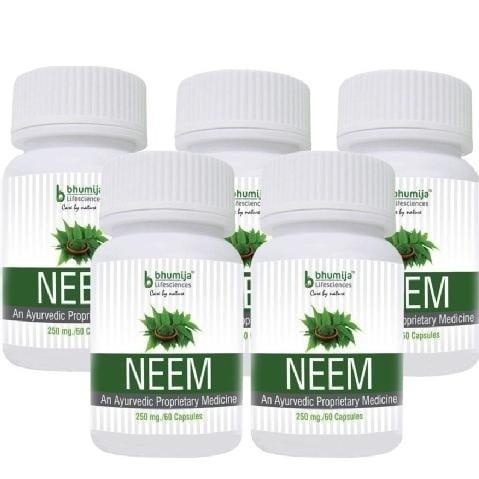 Bhumija Neem,  60 capsules  - Pack of 5