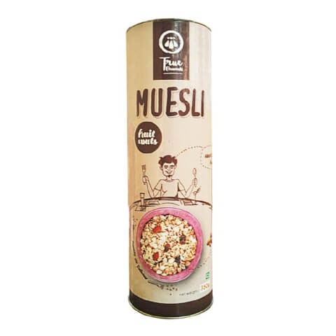 True Elements Fruit And Nut Muesli,  Natural  400 g