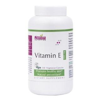 Zenith Nutrition Vitamin E,  200 capsules