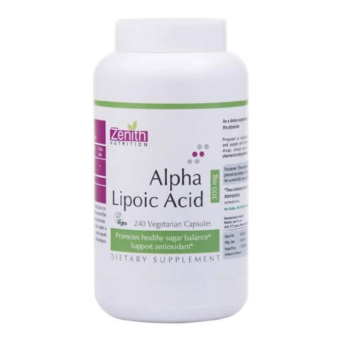 Zenith Nutrition Alpha Lipoic Acid -300Mg,  240 capsules