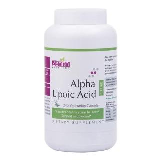 Zenith Nutrition Alpha Lipoic Acid -300Mg,  240 capsules