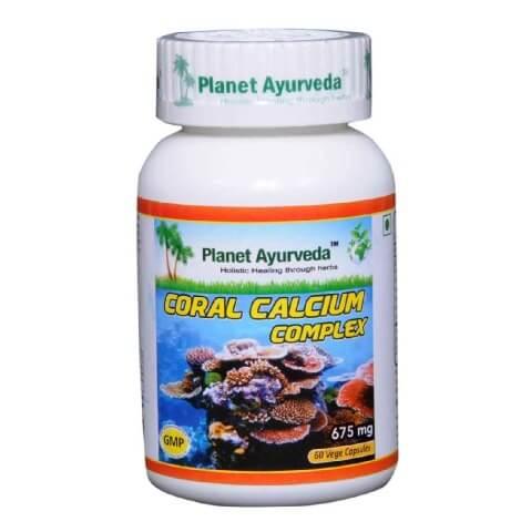 Planet Ayurveda Coral Calcium Complex (675 mg),  60 capsules
