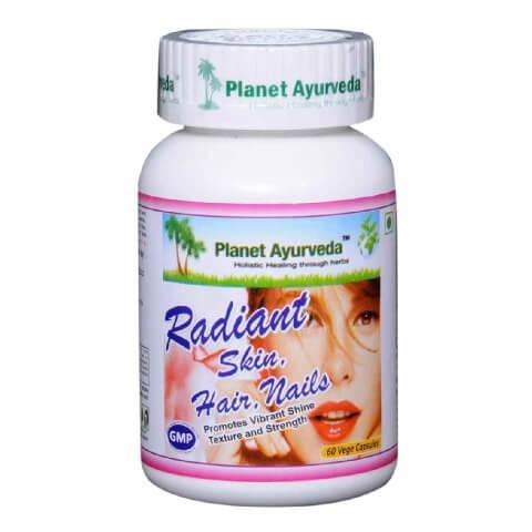 Planet Ayurveda Radiant Skin Hair Nail,  60 veggie capsule(s)