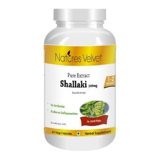 Natures Velvet Shallaki Pure Extract (500 mg),  60 veggie capsule(s)
