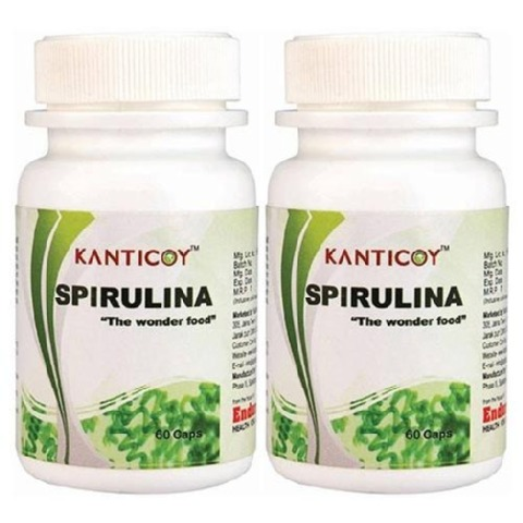 Kanticoy Spirulina,  60 capsules  - Pack of 2