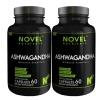 Novel Nutrients Ashwagandha (400 mg),  60 capsules  - Pack of 2