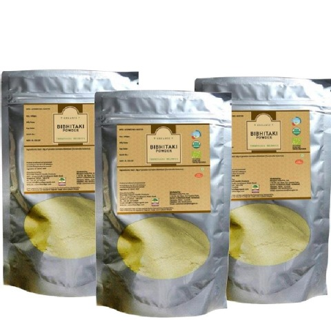 Nirogam Organic Bibhitaki Powder,  100 g  - Pack of 3