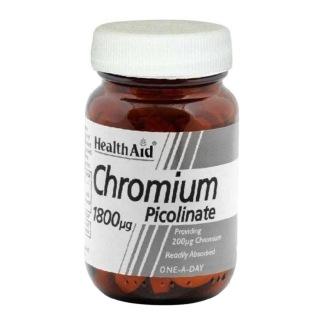HealthAid Chromium Picolinate (200µg),  60 tablet(s)