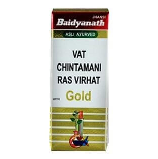 Baidyanath Vat Chintamani Ras Virhat with Gold,  10 tablet(s)
