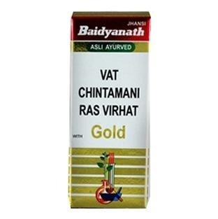 Baidyanath Vat Chintamani Ras Virhat with Gold,  10 tablet(s)