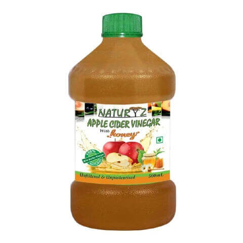 Naturyz Apple Cider Vinegar with Honey,  0.5 L  Unflavoured
