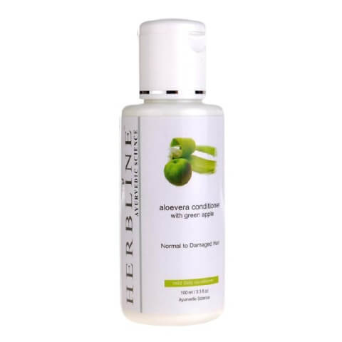 Herbline Aloevera Conditioner,  100 ml  with Green Apple