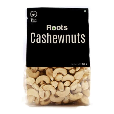 True Elements Roots Cashewnuts,  Unflavoured  0.250 kg