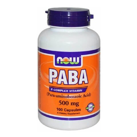 Now PABA (500 mg),  Unflavoured  100 capsules