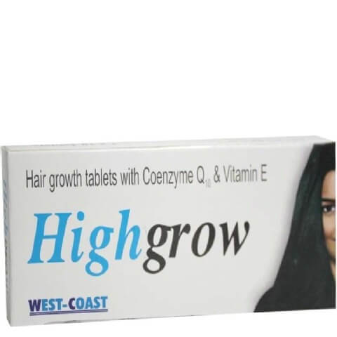 Healthvit Highgrow Hair Growth with CoQ10,  Unflavoured  10 tablet(s)