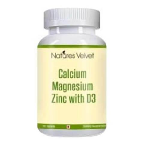 Natures Velvet Calcium Magnesium Zinc,  60 tablet(s)  Unflavoured