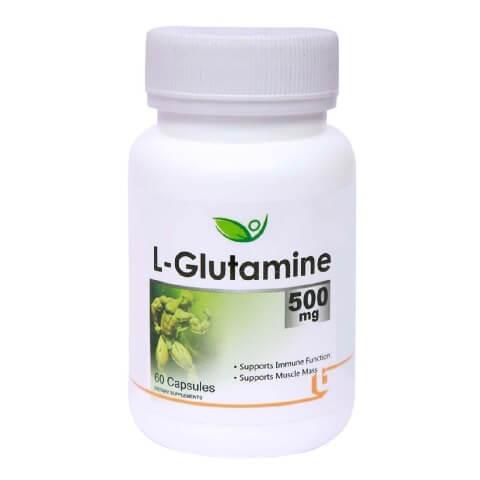 Biotrex L-Glutamine (500 mg),  60 capsules  Unflavoured