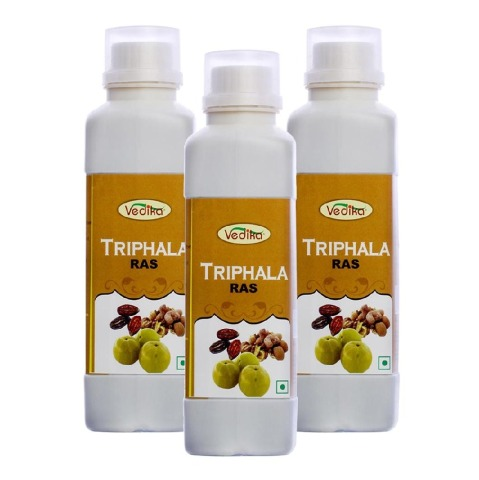 Vedika Triphala Ras - Pack of 3 Natural 0.5 L