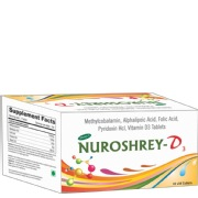 Shrey's Nuroshrey-D3 (Methylcobalamin & Vitamin D3),  100 tablet(s)