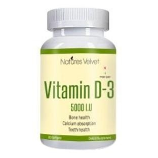 Natures Velvet Vitamin D-3 (5000 IU),  60 softgels