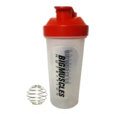 Big Muscle Shaker,  White & Red  600 Ml