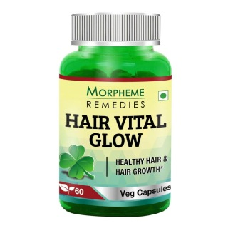 Morpheme Remedies Hair Vital Glow Extract (500 mg),  Unflavoured  60 veggie capsule(s)