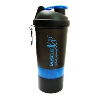 MuscleXP Smart Advanced Gym Shaker,  Black & Blue  500 Ml