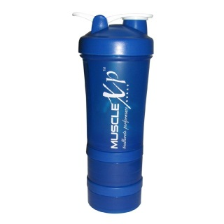 MuscleXP Advanced Stak Protein Shaker for Professionals,  Design 14 Blue & White  500 ml
